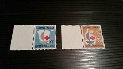 South West Africa 1963 Sg 193-194 Cent Of Red Cross.mnh
