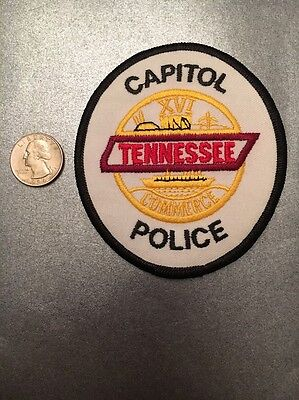 Tennessee Department Of Commerce Capitol Police State Trooper Police Patch Tn