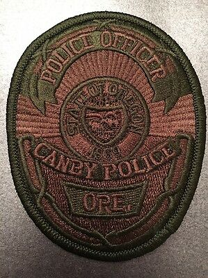 Canby Oregon Police Department Swat Subdued Police Officer Patch Or