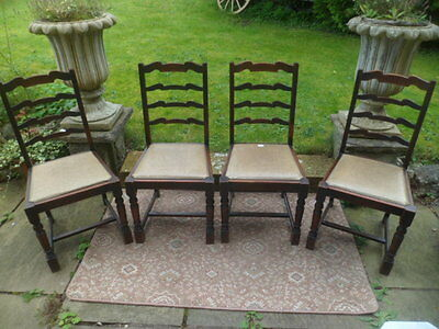 set of 4 vintage retro wooden  kitchen/dining chairs