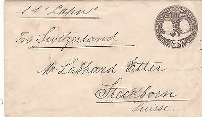 USA 1893 Columbus PSE 5c to Switzerland via SS Lahn Norddeutscher Lloyd