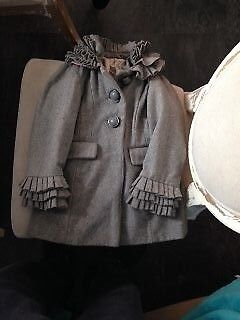girls grey coat from next