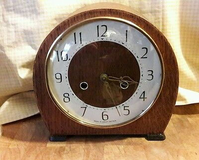 Smiths 2Key Striking Mantle Clock With Pendulum & Key In E.w.o Sm16
