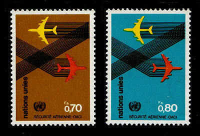 United Nations (G) Air Travel Security (2v) MNH.
