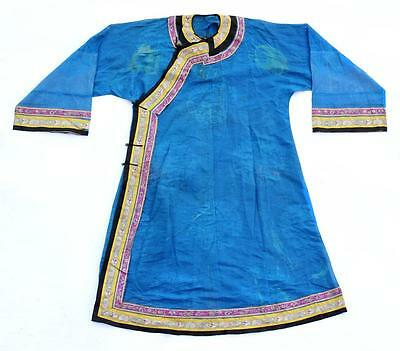 A Rare and Important Chinese Qing Dynasty Blue Summer Robe.