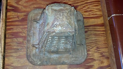 Vintage Stove Top Toaster Steampunk Light shade Rusty Gold