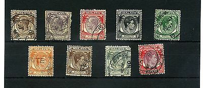 Malaya Straits Settlements.9 --G5/ 6 Used Defin Stamps On Stockcard.