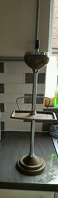 Retro Vintage  Smokers Tall Stand with Metal Ashtray
