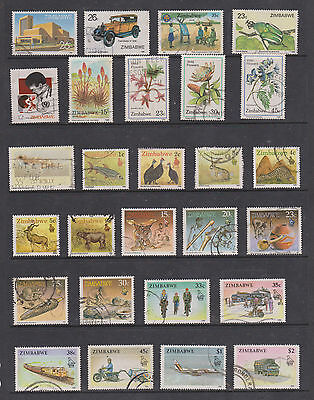 Collection Of Used Stamps From Zimbabwe , See Scans