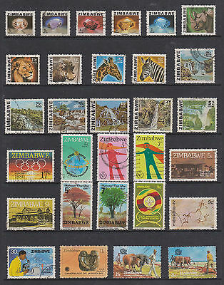 Collection Of Used And M/m Stamps , Zimbabwe ,see Scans