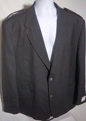 Greyhound Bus Driver Suit Gray Jacket Coat size 50R Inside Pocket Logo Buttons