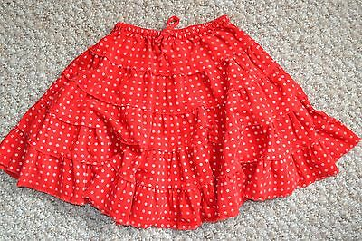 Lovely Mini Boden Girls Red Spotted Cord Twirly Skirt 4-5 Years EUC Christmas