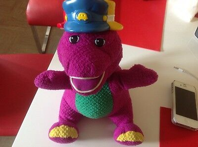 rare silly hats talking barney fisher price soft toy