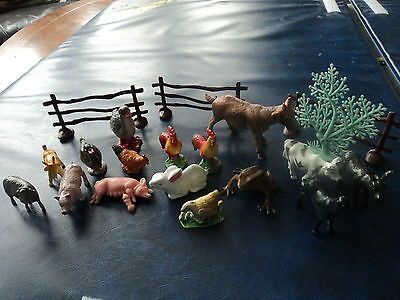 Collection Of Plastic Farm Animal Models