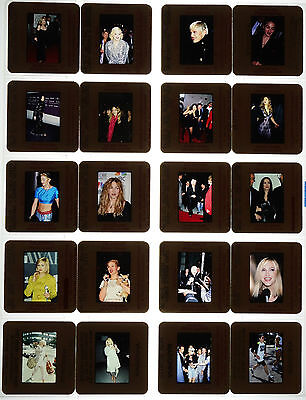 20 Random Color Photo Slide Pictures of Madonna - Mostly From The 1990s