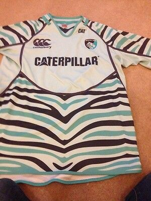 Rare Leicester Tigers Rugby Shirt Size XL