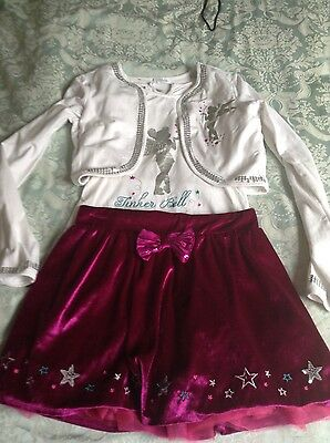 disney store tinkerbell 3 piece set age 11/12 years