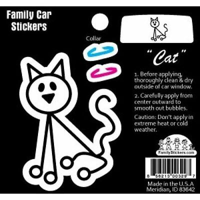 Family Car Sticker-Color-Cat with Collar