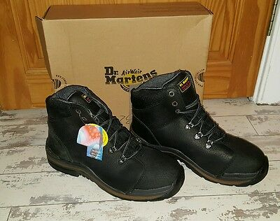 Mens Dr Martens Work Boots.black. Steel Toe Caps/ Safety Boots Size Uk 12. Bnib.