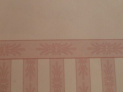 Dolls House Miniature 1:12 Scale Lounge Wallpaper x 2 Cream & Pink (P61)
