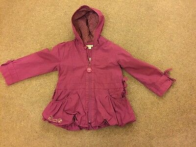 Girls Purple Cat Jacket Age 5 Vertbaudet In Excellent Condition