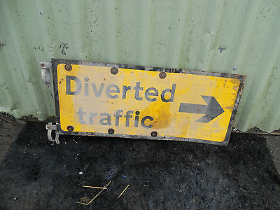 METAL Free STANDING Highway A-BOARD ROADSIGN Road Sign - RIGHT DIVERSION