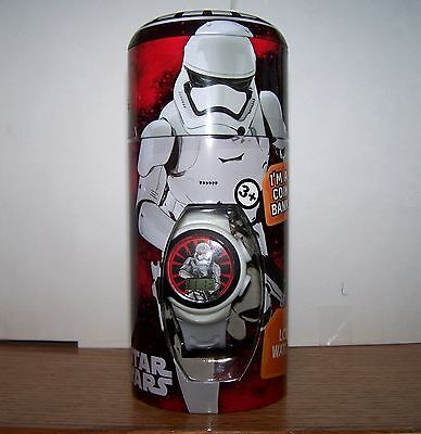 Star Wars Child's Watch / Coin Bank - Storm Trooper - NEW