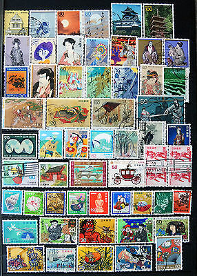 Fine Great Collection of Different Used Japanese Stamps.