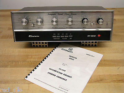 Vintage Crown IC-150 Pre-Amp Preamplifier, Longtime Owner, IMPROVED, Please Read