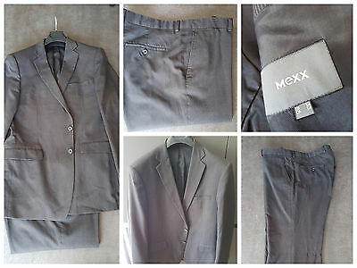 Costume MEXX Complet - Gris Anthracite Fines rayures - Taille Veste 54