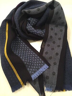 Paul Smith Men Scarf Classic Polka Made In Italy