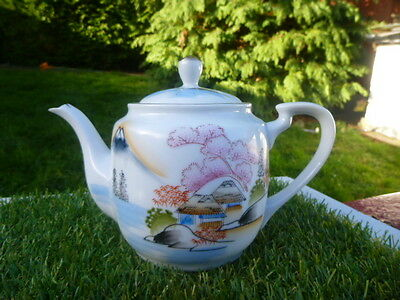 Stunning * Kutani Hand Painted Teapot * Lovely Condition . Low Reserve