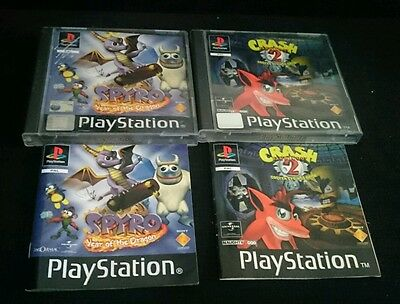 PS1 Spyro Year of the Dragon Crash Bandicoot 2 Cortex Strikes Back - CASES ONLY