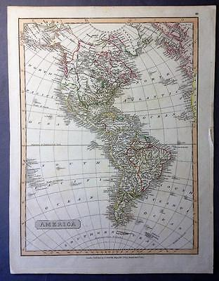Scarce Map of the Americas, Charles Smith, hand colouring, 1820