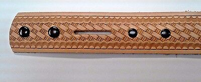 "Embossed Basketweave Belt Blank 1-1/2"" x 42"" Tandy Leather 4594-00 FREE SHIPPING"