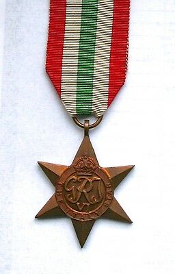 ORIGINAL WW2 ITALY STAR MEDAL with RIBBON