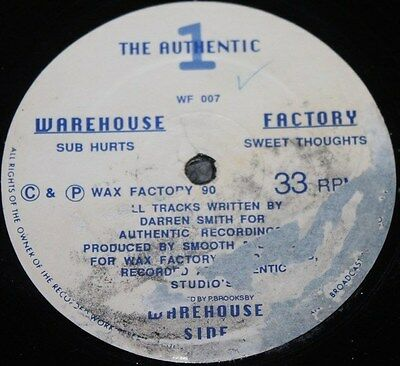 """THE AUTHENTIC 1 * SUB HURTS SWEET THOUGHTS * Classic Techno Deep House 12"""" Vinyl"""