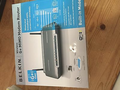 Belkin Wireless G+ MIMO Modem Router Router (F5D9630SV4A)