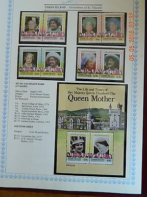 1985 Union Island. Queen Mother. 85th Birthday. MNH.