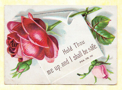 Victorian Religious Card,roses