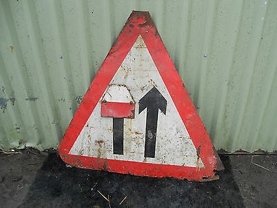 METAL Free STANDING Highway A-BOARD ROADSIGN Road Sign - LANE CLOSED AHEAD
