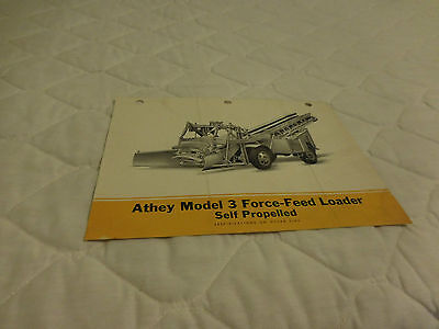 1946 Athey Model 3 Force-Feed Loader Sales Brochure