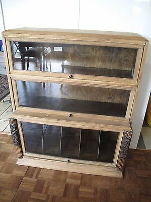 Good 1900's  3 Stack Globewornicke with Glass fronted Display sections.