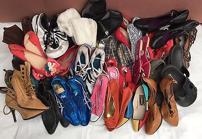 Job Lot Of Mixed Shoes & Trainers NOT Great Condition, Ideal Boot Sale
