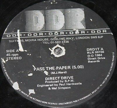 "DIRECT DRIVE * PASS THE PAPER * Classic Soul Funk Boogie 12"" Vinyl"