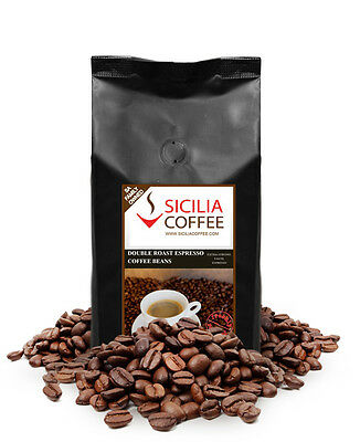 1kg DOUBLE ROAST ESPRESSO Coffee Beans, 100% Arabica, Dark Roasted
