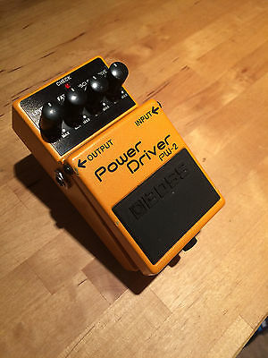 Vintage BOSS PW-2 Power Driver Distortion Effects Pedal