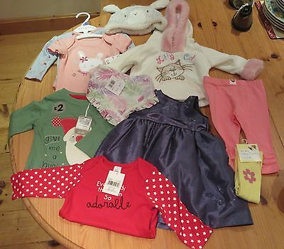 10 items Baby girl bundle Mothercare Next Tu Nutmeg 3 - 6 months vgc or BNWT