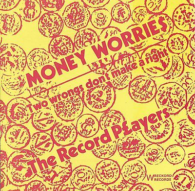 """THE RECORD PLAYERS Money Worries 7"""" single Punk new wave KBD 1978"""