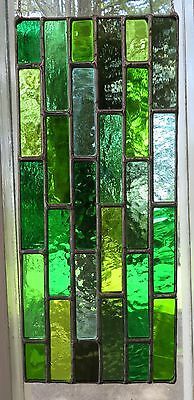 Cascade of Green! Cooling Stained Glass Suncatcher Panel - pewtermoonsilver